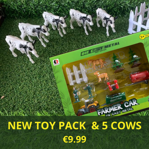 New Toy Pack and Cows